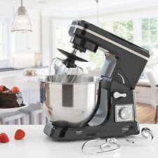 Neo Black Food Baking Electric Stand Mixer 5L 6 Speed Steel Mixing Bowl 800w