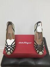 Salvatore Ferragamo Philippa High Heel Pumps Shoes Size 7 With Box