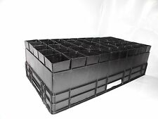 50mm Plant Tube Pot Square with Air Pruning High Tray x 8 sets