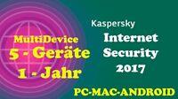 Kaspersky Internet Security MultiDevice WIN/MAC/ANDROID 1 Jahr - 5 Geräte