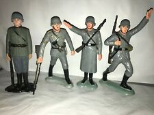 """VINTAGE MARX 1963-64 SIX INCH WWII GERMAN FIGURES SET OF FOUR(4) """"VARY RARE"""""""