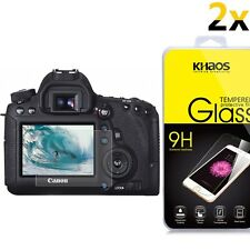 [2-Pack] KHAOS Glass Screen Protector For Canon EOS T4i(650D) / 70D / T5i(700D)