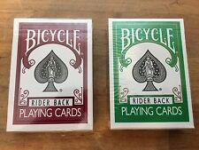 BICYCLE Playing Cards BURGUNDY & GREEN Rider Back Cincinnati Ohio RARE NEW