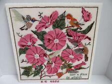 Finished Needlepoint Hummingbird Morning Glory Completed National Wildlife Fed