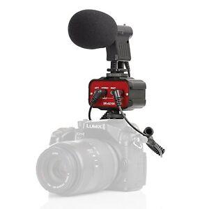 Movo DSLR Video Audio Kit w/ On-Camera Mini Shotgun Microphone & 2-Channel Mixer