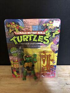 Teenage Mutant Ninja Turtles Raphael MOC 10 Back Unpunched Vintage Action Figure