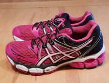 WOMENS ASICS GEL-PULSE 6 RUNNING TRAINERS SIZE 4 EURO 37. PINK/BLK
