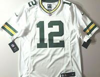 100% AUTHENTIC! Men's Nike Packers Aaron Rodgers #12 Limited White Jersey Sz. M