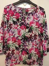 SUSSAN 3/4 sleeve floral blouse 12