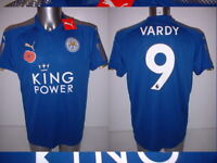 Leicester City Puma Poppy Vardy Mahrez Okazaki BNWT M L XL Soccer Shirt Jersey