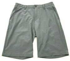 Adidas Chino Shorts Talla 34 Cintura Plano Frente Gris Bermuda Athleisure Ligero