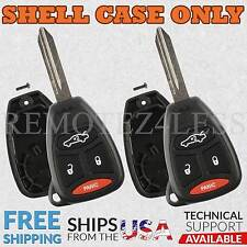 2 For 2006 2007 Dodge Charger Remote Shell Case Car Key Fob Cover