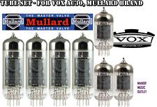 Tube Set for Vox AC30, Mullard brand valves