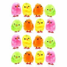 Pack of 16 Multicolour Mini Chenille Fluffy Easter Bonnet Arts & Crafts Chicks