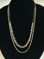 J.Crew Multi Chain Gold Tone Beaded 24 Inch Jewelry