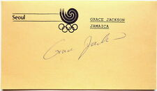 GRACE JACKSON 1988 OLYMPIC 200m SILVER MEDAL AUTOGRAPH