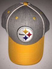 Pittsburgh Steelers New Era 59fifty Snapback Hat. Great Condition. GrayYellow