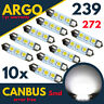 10 x 239 LED XENON WHITE FESTOON 272 CANBUS ERROR FREE NUMBER PLATE LIGHT BULBS