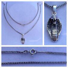 collana argento con ciondolo 925er Accessori in catena cobra serpente 51 cm