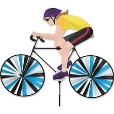 "Lady on 35"" Road Racing Bike Staked Wind Spinner Pr 26562"