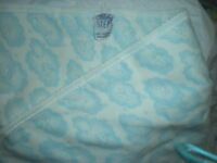 BABY STEPS BLANKET LOVEY BLUE WHITE CLOUDS AIRPLANE