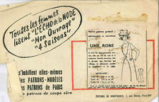 Vintage Une Robe French Sewing Pattern G412 Taille 44