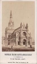 Photo carte de visite :Collard ; Nouvelle Eglise Sainte-Anne d'Auray, 1870