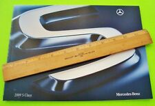 2009 Mercedes Benz S-CLASS DLX CATALOG Brochure COLOR CHIPS 50-pgs S600 V-12 AMG