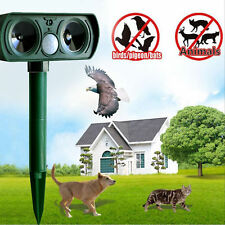 Solar Electronic Ultrasonic Pest Animal Repeller Motion Rodent Cat Dog Repellent