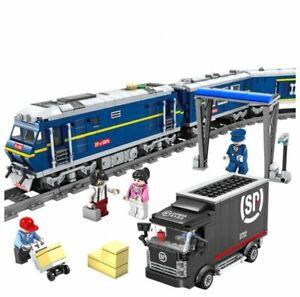 KAZI KY98220 Blue Diesel Cargo Train DF5 Lighted Building Block Set 1192+pcs
