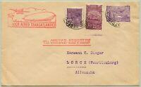 Zeppelin Brasilien 1932 1. Südamerikafahrt Brief nach Lorch Si 139 A / 619