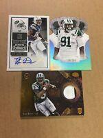 3 Card New York Jets Lot Auto/Autograph Jersey Lot- Tajh Boyd, Titus Davis