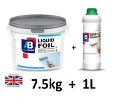 7.5kg + 1L Aqua Liquid Foil Waterproof Tanking MEMBRANE+ Deep Penetrating PRIMER