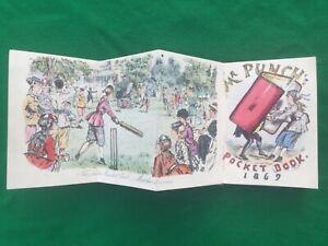 Cricket, ladies, Mr Punch pocket book, colour picture, 1869