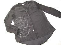 Traum SOCCX Long Bluse Satin glänzend Gr. L 40 schwarz w. NEU 1x getragen NP 90€