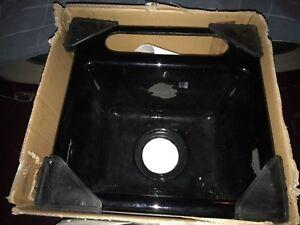 "NIB Black Song Calypso Undercounter Entertainment Sink 8"" Deep Lrg Bowl Premium"