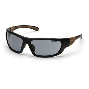 Carhartt CHB220D Carbondale Black/Tan Frame With Gray Lens Safety Glasses