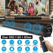 Bluetooth Speaker Sound Bar Wired Wireless Subwoofer Bass Home Theater TV Remote