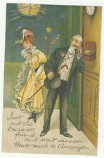 COMIC postcard - BUSINESS FRIEND - TELEPHONE - c. 1910