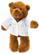 Stofftier Plüschtier Kuscheltier Teddybär Bär mit Kittel, Kasack, Arzt, Doktor