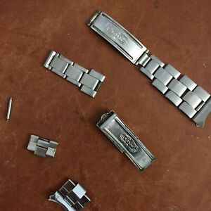 VINTAGE ROLEX 4/63 60 Ends RIVET BAND BRACELET 19mm