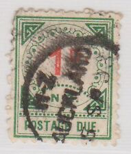 (JQ-9) 1899 NZ 1d red &green postage due