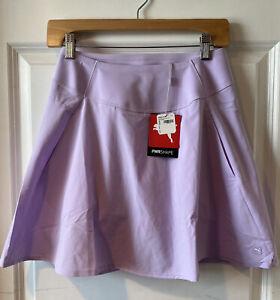 PUMA Women's PWRSHAPE Solid Woven Golf Skirt Skort Lavender S Small NWT #43235