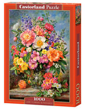 """Brand New Castorland Puzzle 1000 JUNE FLOWERS IN RADIANCE 27"""" x 17.5"""" C-103904"""