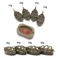INLINE METHOD SWIM FEEDERS FOR CARP FISHING BARBEL 15/20/25/35g 30/40/50/60g -FI