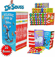 A Classic Case of Dr. Seuss 20 Books Box Set Pack Collection Includes Lorax NEW