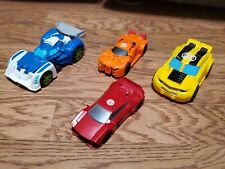 Lot of 4 Transformers Bots (2) I step Drift action Figures & (2)  Rescue Bots.