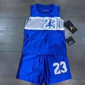 Nike Air Jordan 23 Jumpman Toddler Boys Blue Jersey Tank & Short Set Size 3T