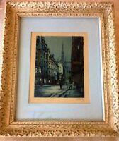 MARCEL JULIEN BARON (French Modernist, 1872-1956) Pencil Signed Color Etching FR