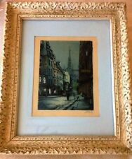 MARCEL JULIEN BARON (French Modernist 1872-1956) Pencil Signed Color Etching No1